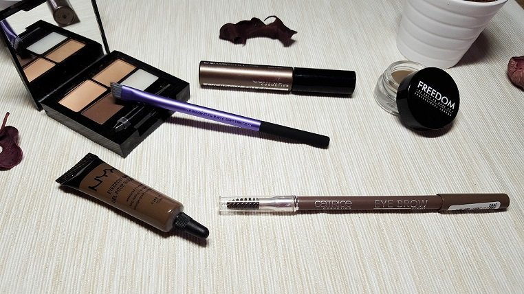Augenbrauen-Produkte: Make Up Revolution, Fredoom, Catrice, Nyx