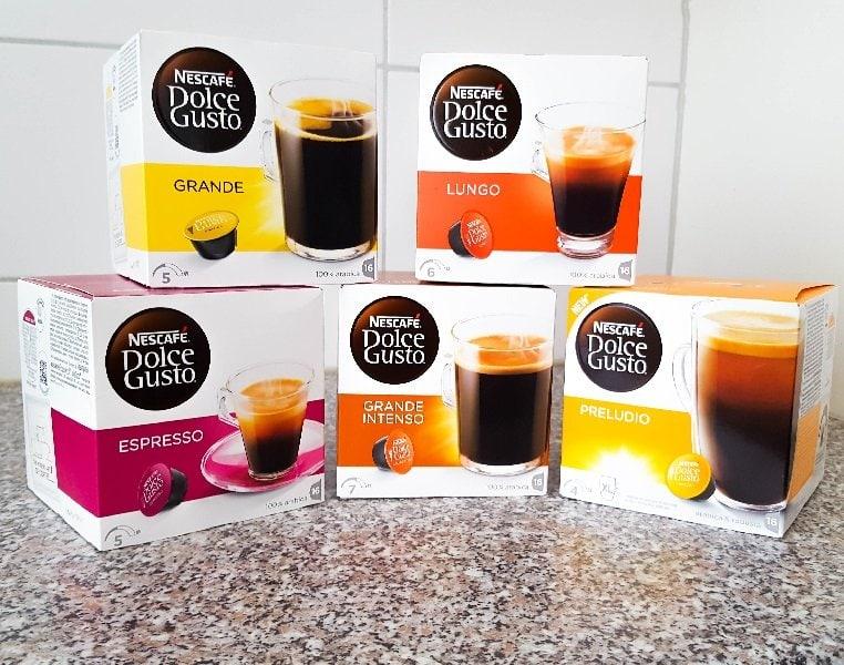 Dolce Gusto Kapseln verschiedene Kaffeespezialitäten