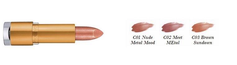Catrice soleil d'ete Metalip Colour C01 C02 C03