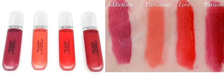 Ultra Matte Lipcolor Revlon in den Farben 610, 620, 625 und 635