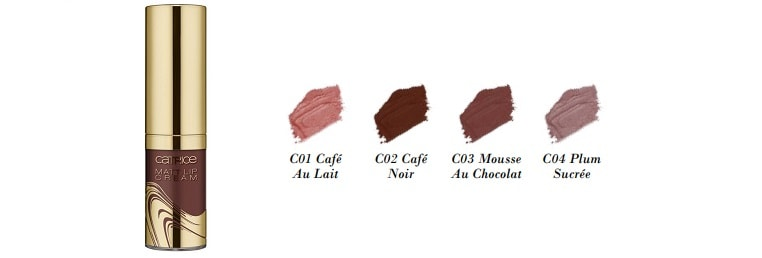 Catrice Blessing Browns Matt Lip Cream 4 Farben