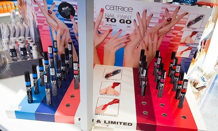 Nail Paint To Go Catrice limited Edition Aufsteller dm