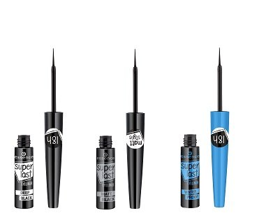 essence superlast eyeliner deep black, matt black, waterproof
