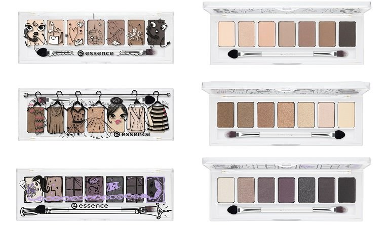 essence limited Edition ...& the lovely little things eyeshadow palette 01 02 03 offen und zu