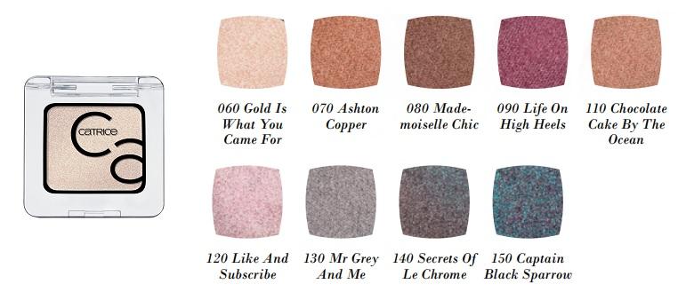 Art Couleurs Eyeshadow 9 verschiedene Farben