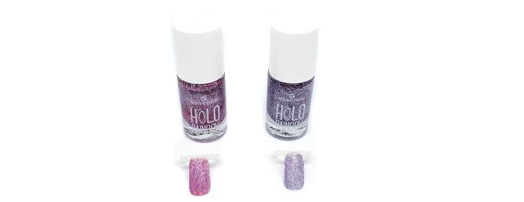 Holo Shine Nagellack essence mit Swatches 04 & 05