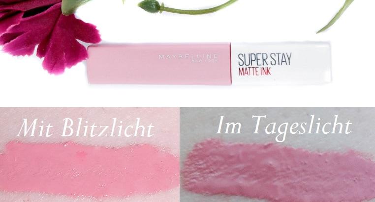 Maybelline Superstay Matte Ink Lipstick 10 Dreamer mit Swatches