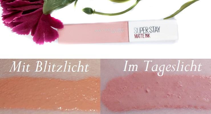 Maybelline Superstay Matte Ink Lipstick 05 Loyalist mit Swatches