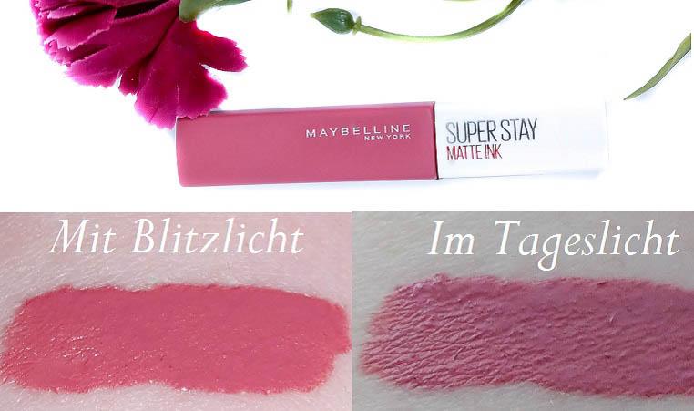 Maybelline Superstay Matte Ink Lipstick 15 Lover mit Swatches