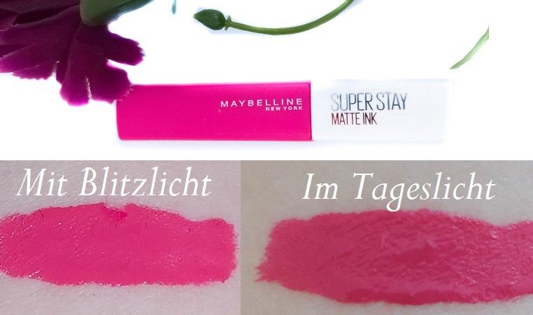 Maybelline Superstay Matte Ink Lipstick 30 Romantic mit Swatches