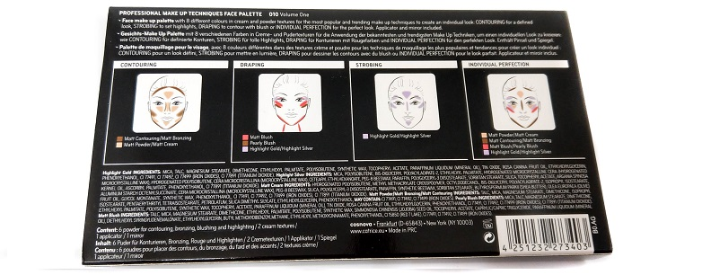 Professional Make Up Techniques Palette Catrice Rückseite Verpackung
