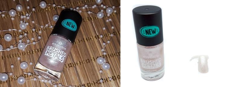 brushed metals nail polish essence 02 mit Swatch