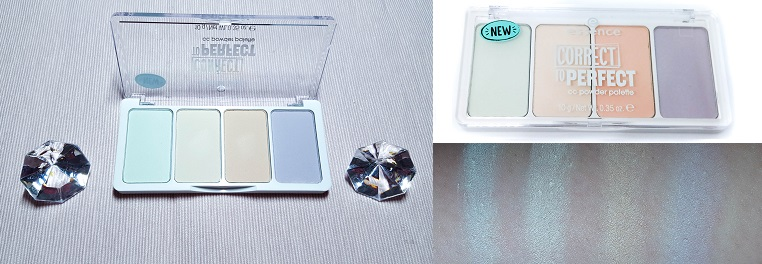 essence correct to perfect cc powder palette 10 mit Swatches