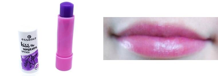kiss the unicorn Lipstick essence mit Swatch