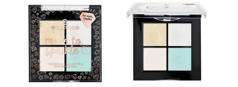 essence limited Edition Made To Sparkle HightlightingAndTransforming Prismatic Palette offen und zu