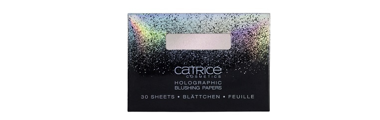 Catrice limited Edition Dazzle Bomb Holographic Blushing Papers