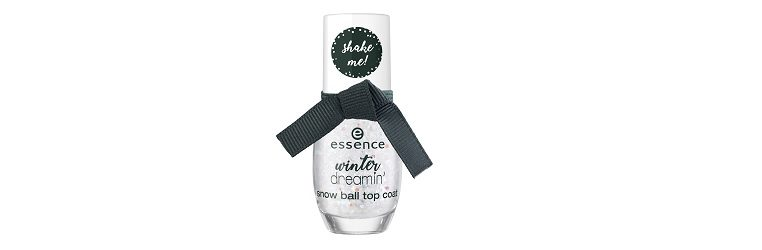essence limited Edition Winter Dreamin snow ball top coat