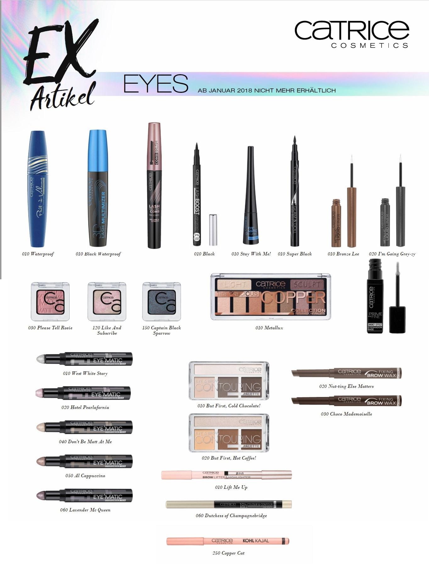 Ex Artikel 2018 Augenprodukte Catrice