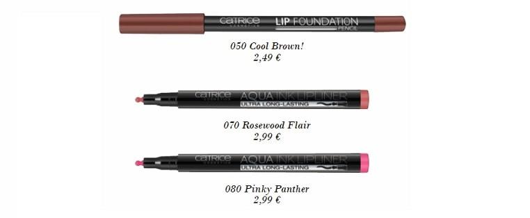 Catrice Lip Foundation & Aqua Lipliner