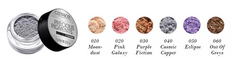 Catrice Precious Pigments Loose Eyeshadow 010 020 030 040 050 060