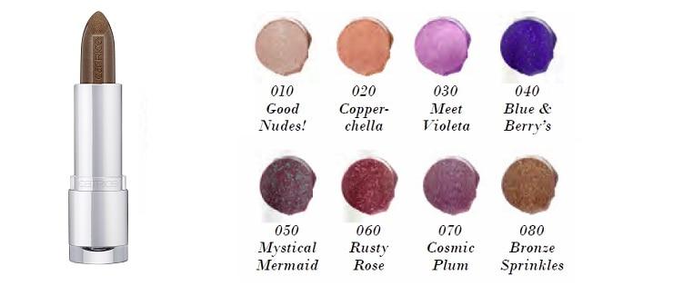Catrice Prisma Chrome Lipstick 010 020 030 040 050 060 070 080