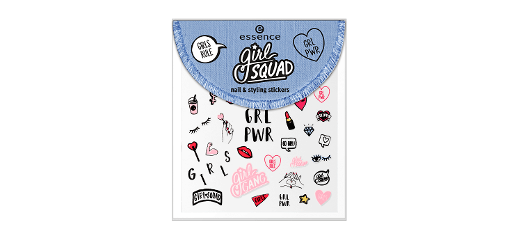 essence girl squad nail & styling stickers 01