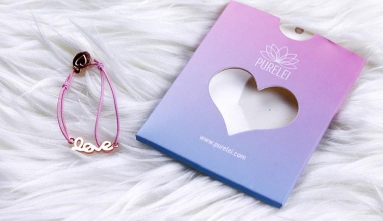 Armband mit LOVE von PURELEI