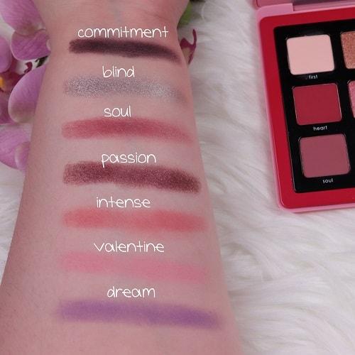 Love Palette Natasha Denona Swatches Teil 1