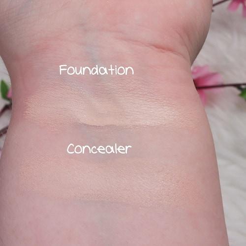 XX Revolution Skin Glow Fauxxdation & ConcealXX Super Fix Concealer Swatches