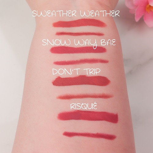 Swatches Kylie Cosmetics Matte Lip Kits