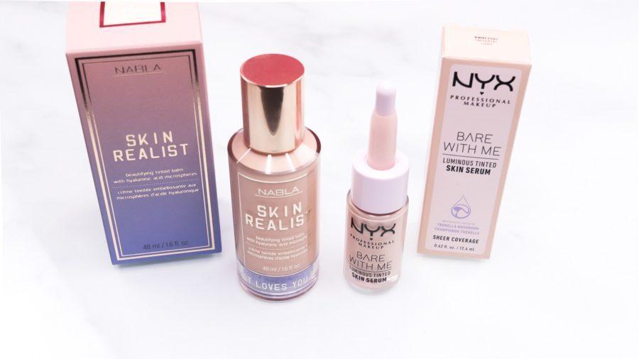 Skin Realist Tinted Balm von Nabla & Bare with me Luminous Tinted Skin Serum von NYX Professional Makeup